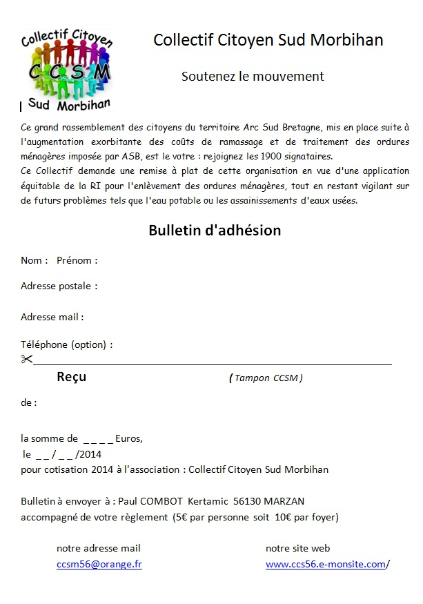 Bulletin d inscription